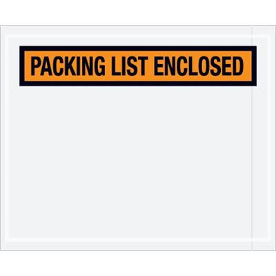High Tacking Packing List Envelopes