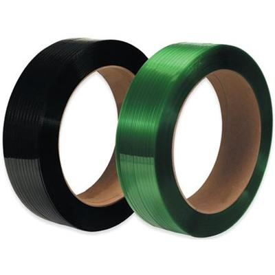 "Polyester Strapping - 1/2"" x 3600'<br>16"" x 3"" core Green  - Polyester Strapping - 16"" x 3"" core - Performance Packaging, Inc."